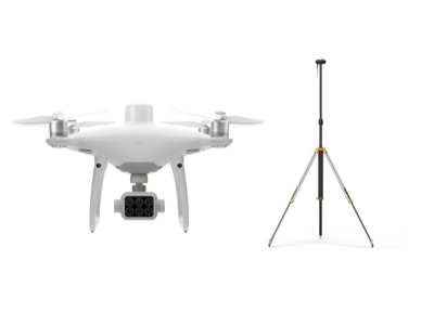 DJI Phantom 4 Multispectral + D-RTK 2  High Precision GNSS Mobile Station Combo